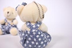 игрушка для букета - мишка в синей джинсе (2 шт в уп) т21