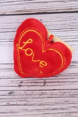 Игрушка для букета (С) - Сердце брелок 6см