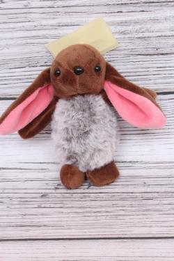 Игрушка для букета (С) - Заяц длинноухий коричневый брелок