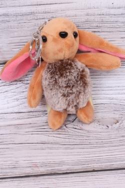 Игрушка для букета (С) - Заяц длинноухий рыжий брелок