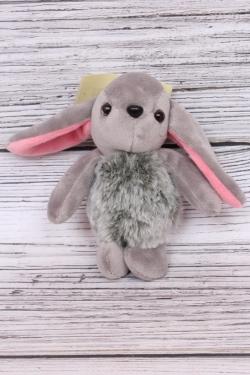 Игрушка для букета (С) - Заяц длинноухий серый брелок