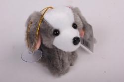 игрушка для букета- щенок - брелок серый 009lm