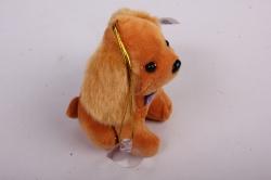 игрушка для букета- щенок с бантом- брелок рыжий 002lm