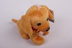 игрушка для букета- щенок с косточкой и бумбоном- брелок рыжий 14а/10