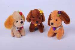 игрушка для букета- собачка (3 шт в уп) 9 см аг-17018/9