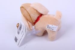 игрушка для букета- собачка бежевая 001lm h=8cм