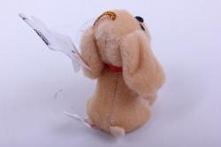 игрушка для букета- собачка бежевая 004lm h=7см