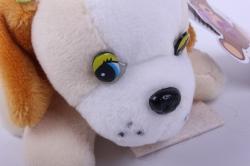 игрушка для букета- собачка белая 010lm h=6см