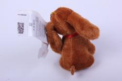 игрушка для букета- собачка коричневая 004lm h=7см