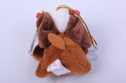 игрушка для букета- собачка коричневая 010lm h=6см