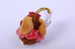 игрушка для букета- собачка коричневая 016lm h=7см