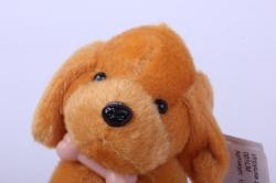 игрушка для букета- собачка персиковая 001lm h=8cм