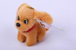 игрушка для букета- собачка персиковая 004lm h=7см