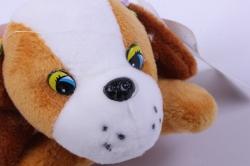 игрушка для букета- собачка персиковая 010lm h=6см