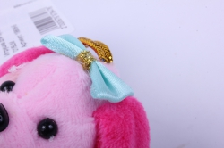 игрушка для букета- собачка розовая 016lm h=7см