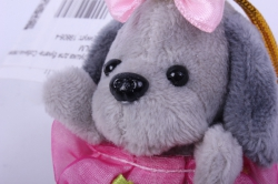 игрушка для букета- собачка серая 016lm h=7см