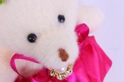 игрушка для букетов - медведь для букетов (кремовое) h=12см (код 10)