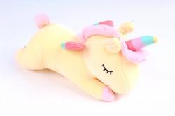 Игрушка мягкая - Единорог лежит желтый