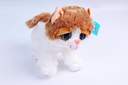 Игрушка мягкая - (Г) Кошка бело/рыжая 30см  арт.2086