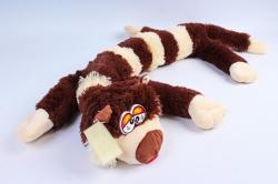 Игрушка мягкая - (Г) Кот длинный полосатый коричневый 80/100см, арт.070822