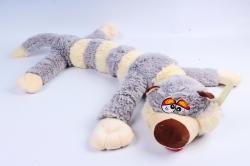 Игрушка мягкая - (Г) Кот длинный полосатый серый 80/100см, арт.070822