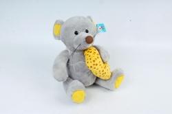 Игрушка мягкая - (Г) Мышка с сыром серая  Арт.20361