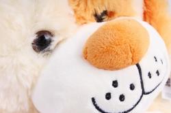 Игрушка мягкая - (Г) Собака с косточкой бежевая 30см, арт.20274-30