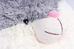 Игрушка мягкая - (Г) Заяц Круглый 35*30см (Зоопарк-7), арт.20202
