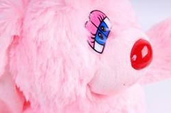 Игрушка мягкая - (Г) Заяц Лавлик-2 розовый 20*40см, арт.1514-40