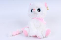 Игрушка мягкая - Кошка с большим хвостом белая  М-3014/23