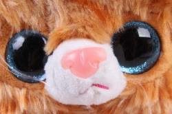 Игрушка мягкая - Кошка с большим хвостом рыжая  М-3014/23
