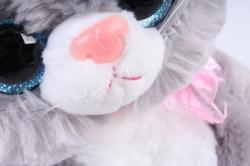 Игрушка мягкая - Кошка с большим хвостом серая М-3014/23