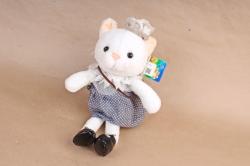 Игрушка мягкая - Кошка в ботинках в сером платье