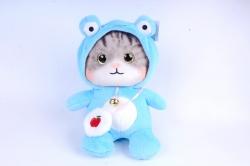 Игрушка мягкая - Кошка в капюшоне большая голубая