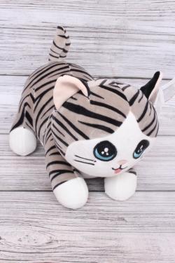 Игрушка мягкая - Кот полосатый 33см
