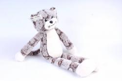 Игрушка мягкая - Кот с длинными ногами коричневый