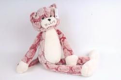 Игрушка мягкая - Кот с длинными ногами  розовый