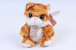 Игрушка мягкая - Кот в коробке рыжий   М-1570/12