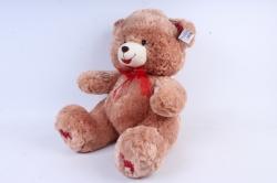 Игрушка мягкая - Медведь с бантом  бежевый    М-1320/48  3цвета