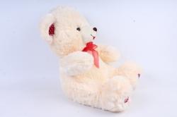 Игрушка мягкая - Медведь с бантом  шампань    М-1320/48  3цвета
