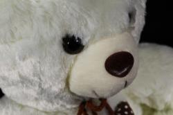 Игрушка мягкая - Медведь с сердечком белый  М-1833/28