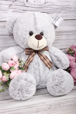 Игрушка мягкая - Медведь 30см серый