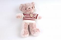 Игрушка мягкая - Мишка   в полосатом свитере (розовый)