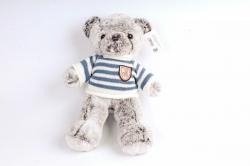 Игрушка мягкая - Мишка   в полосатом свитере (серый)