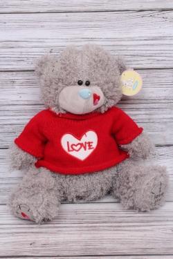 Игрушка мягкая - Мишка Тедди 30см красный свитер