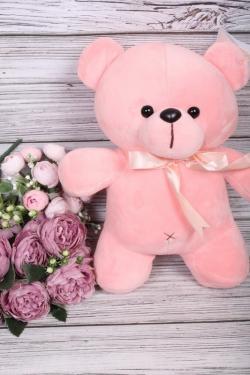 Игрушка мягкая - Мишка велюр 30см розовый