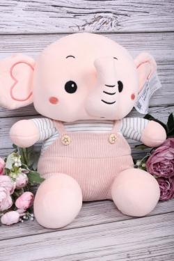 Игрушка мягкая - Слоник 30см розовый