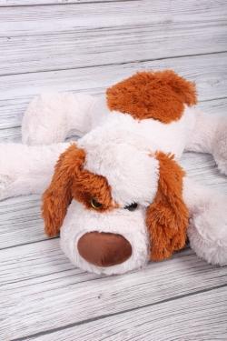 Игрушка мягкая - Собака лежит 40см пудра