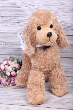 Игрушка мягкая - Собака Пудель 50см бежевый