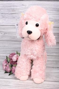 Игрушка мягкая - Собака Пудель 50см розовый